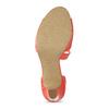 Korálové dámske sandále s asymetrickým remienkom insolia, červená, 761-5600 - 18