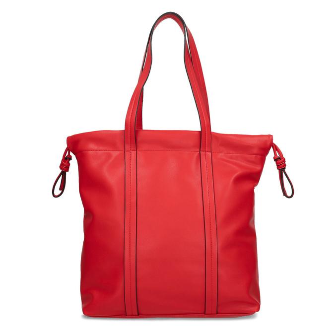 Červená kabelka v štýle Shopper Bag bata, červená, 961-5933 - 16