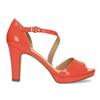 Korálové dámske sandále s asymetrickým remienkom insolia, červená, 761-5600 - 19