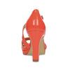 Korálové dámske sandále s asymetrickým remienkom insolia, červená, 761-5600 - 15