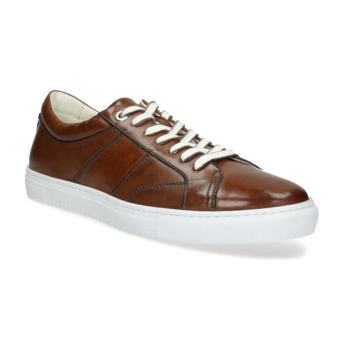 Kožené hnedé tenisky pánske bata, hnedá, 846-3649 - 13