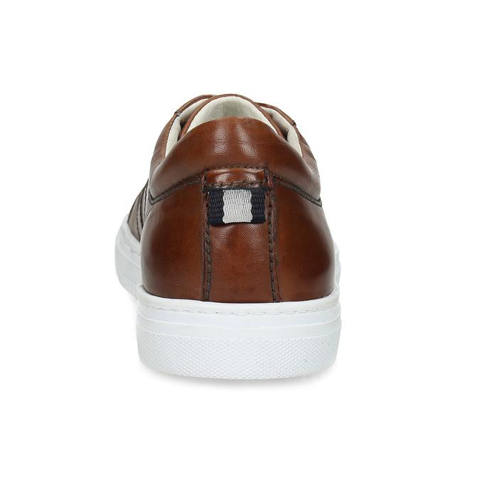 Kožené hnedé tenisky pánske bata, hnedá, 846-3649 - 15