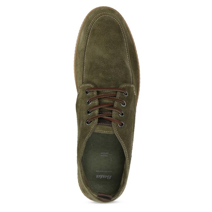 Členková pánska obuv z brúsenej kože bata, zelená, 823-7605 - 17