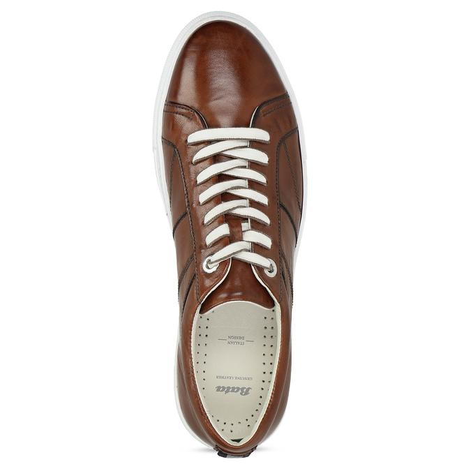 Kožené hnedé tenisky pánske bata, hnedá, 846-3649 - 17