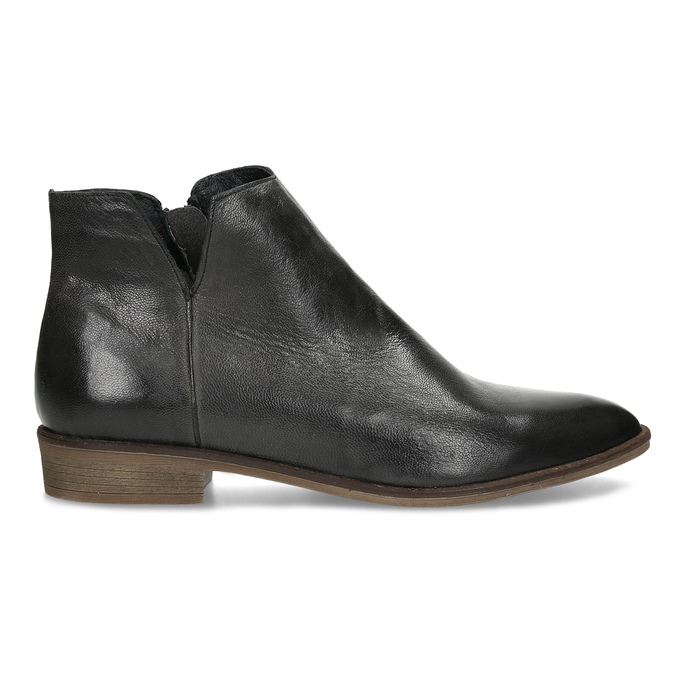 Čierne kožené členkové čižmy bata, čierna, 526-6666 - 19