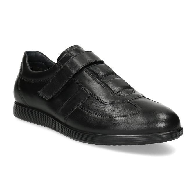Pánska kožená obuv na suchý zips bata, čierna, 824-6666 - 13