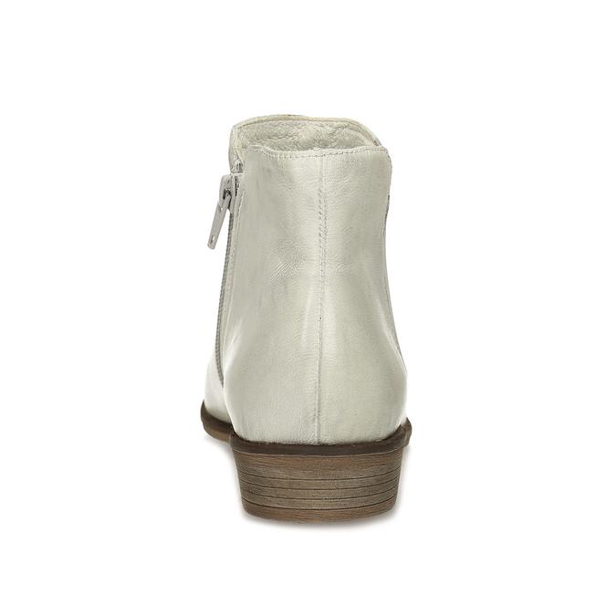 Kožené dámske členkové čižmy bata, šedá, 526-1666 - 15
