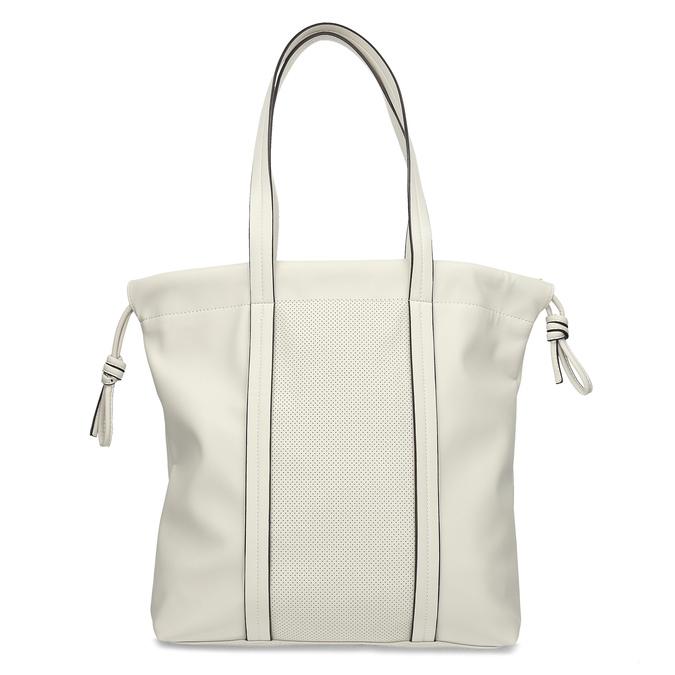 Béžová dámská kabelka s jemnou perforáciou bata, béžová, 961-8933 - 26