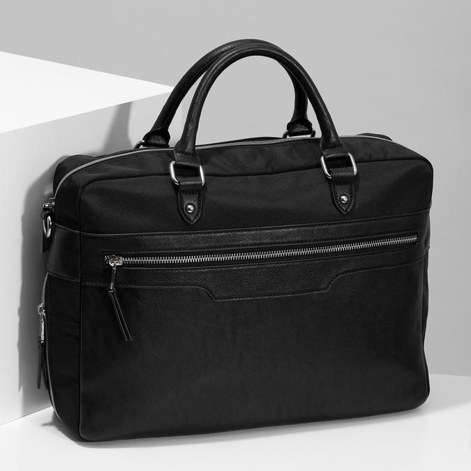 Pánska čierna taška s popruhom bata, čierna, 969-6950 - 17