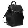 Čierny dámsky batoh s kovovými cvočkami bata, čierna, 961-6940 - 13