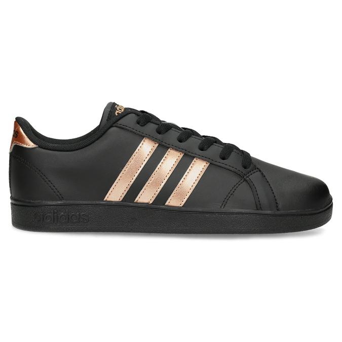 Čierno-zlaté detské tenisky adidas, čierna, 401-6164 - 19