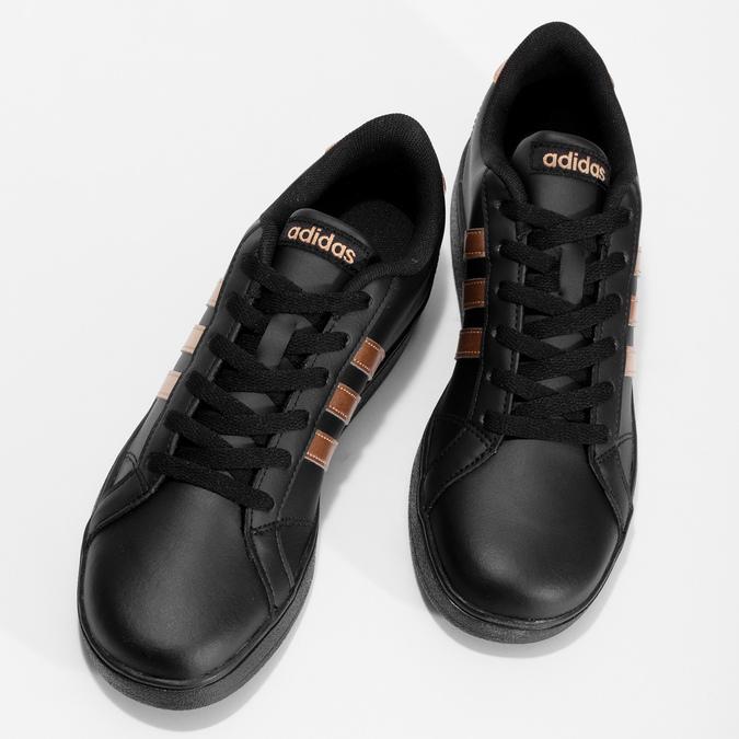 Čierno-zlaté detské tenisky adidas, čierna, 401-6164 - 16