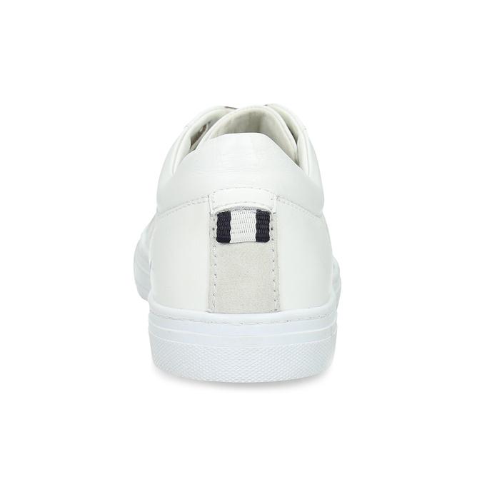 Biele kožené pánske tenisky bata, biela, 844-1649 - 15