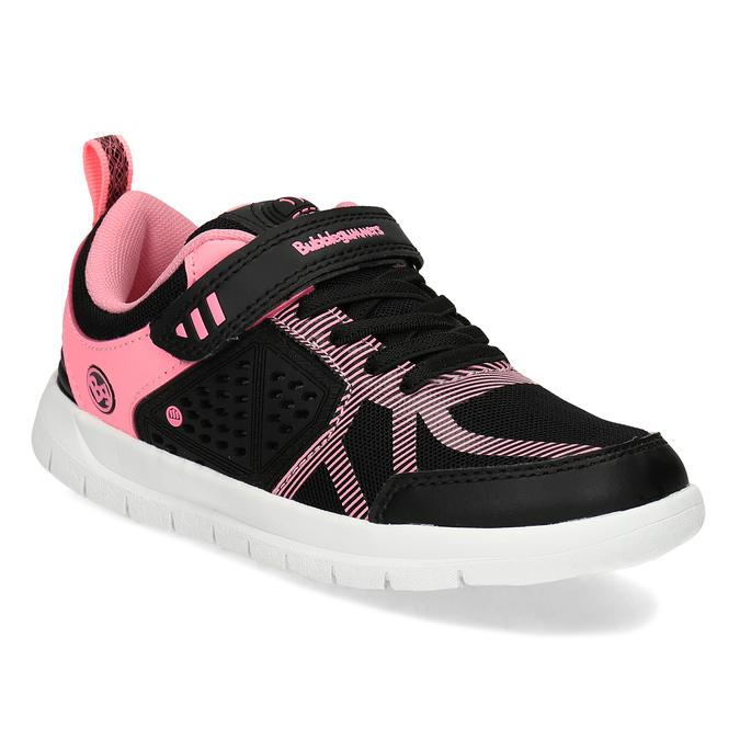 Dievčenské čierno-ružové tenisky bubble-breathe, čierna, 321-6172 - 13