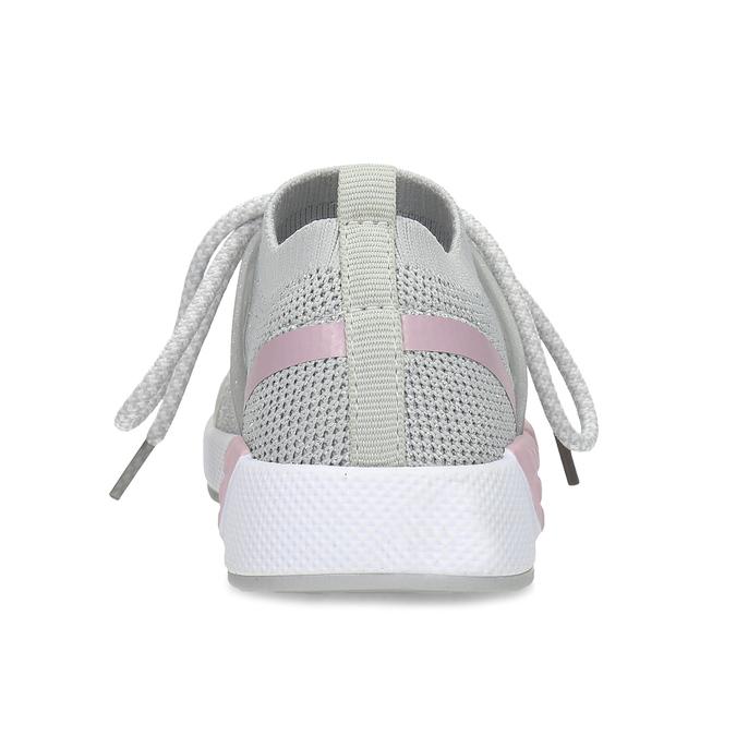 Šedé detské tenisky v pletenom dizajne mini-b, šedá, 329-2282 - 15