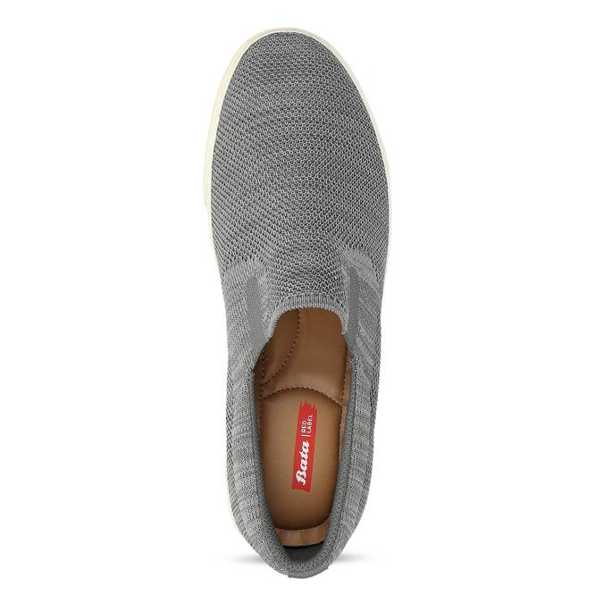 Pánske úpletové slip-on tenisky šedé bata-red-label, šedá, 839-2603 - 17
