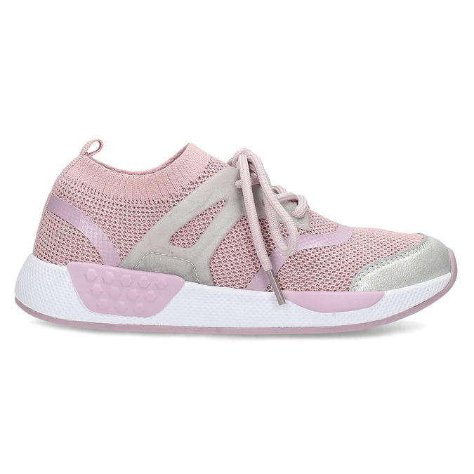 Ružové detské tenisky v pletenom dizajne mini-b, ružová, 329-5282 - 19