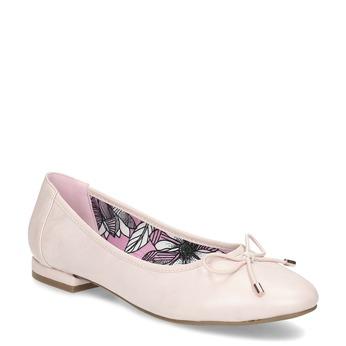 Ružové dámske baleríny bata, ružová, 521-8650 - 13