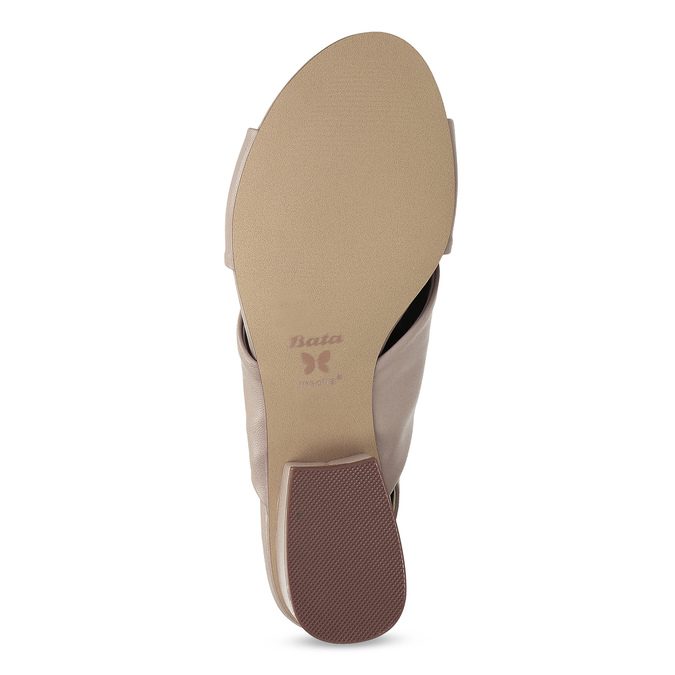 Dámske béžové sandále na nízkom podpätku insolia, béžová, 661-8621 - 18