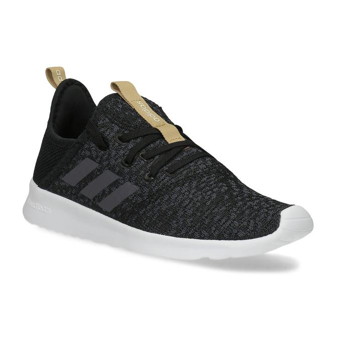 Čierne dámske tenisky s hnedým detailom adidas, čierna, 509-6469 - 13