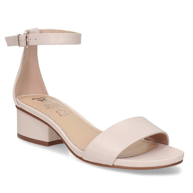 be942e0b2d2d0 Telové dámske sandále na nízkom podpätku insolia, ružová, 661-8620 - 13