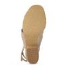 Dámske telové sandále na stabilnom podpätku insolia, ružová, 761-8643 - 18