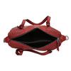 Červená dámska kabelka s perforáciou bata, červená, 961-5888 - 15