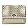 Zlatá dámska Crossbody kabelka s perforáciou bata, zlatá, 961-8941 - 26
