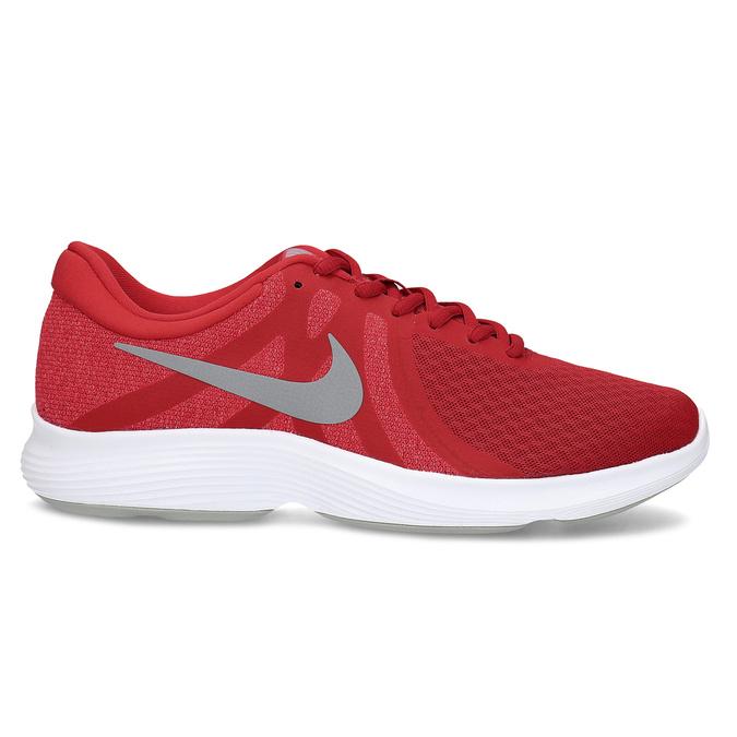 Červené pánske tenisky s bielou podrážkou nike, červená, 809-5100 - 19