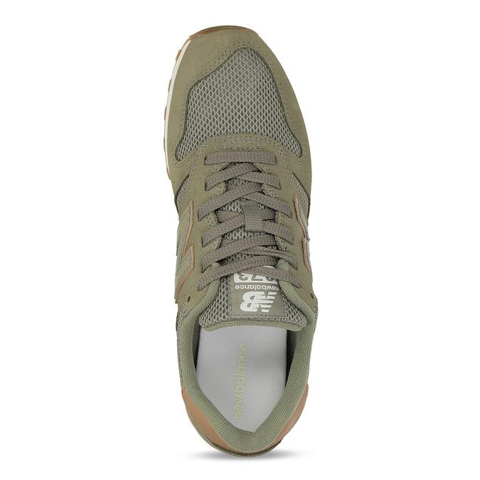 Zelené pánske tenisky z brúsenej kože new-balance, zelená, 803-7100 - 17
