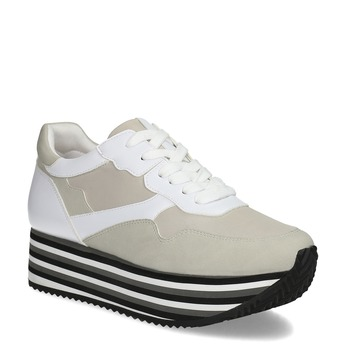 Dámske tenisky na flatforme šedé bata, viacfarebné, 549-0605 - 13