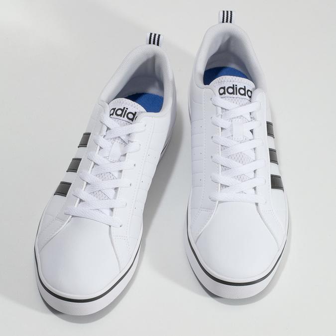 Ležérne pánske tenisky biele adidas, biela, 801-1136 - 16