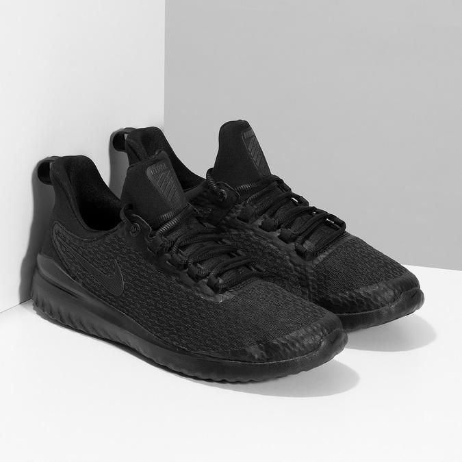 Pánske čierne tenisky s vykrojením nike, čierna, 809-2105 - 26