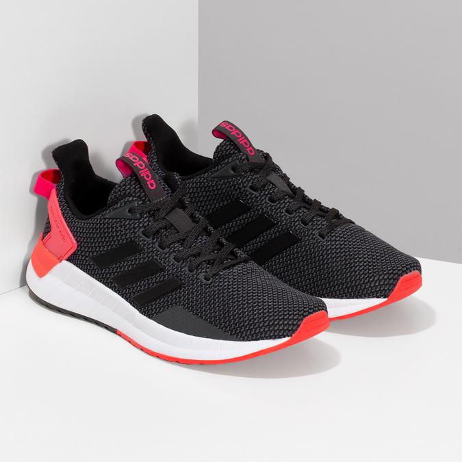 Čierne dámske tenisky s červenými detailami adidas, čierna, 509-2129 - 26