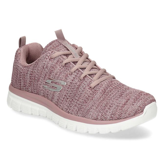 Dámske ružové tenisky so žíháním skechers, ružová, 509-5164 - 13