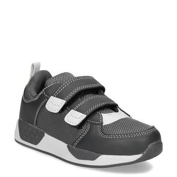 Šedé tenisky na suchý zips detské mini-b, šedá, 319-2163 - 13