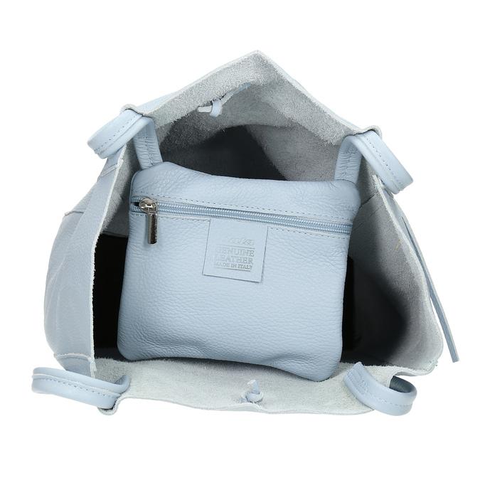 Svetlomodrá kožená kabelka bata, modrá, 964-9162 - 15