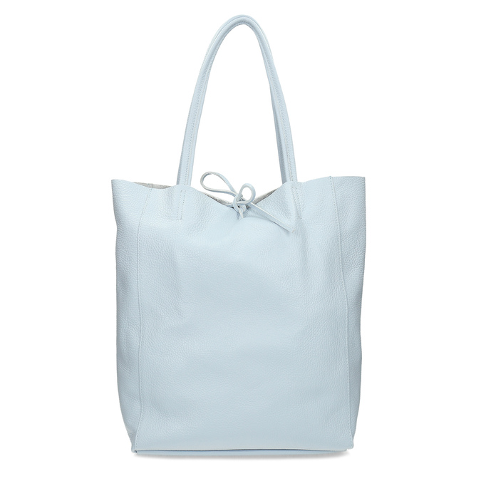 Svetlomodrá kožená kabelka bata, modrá, 964-9162 - 26