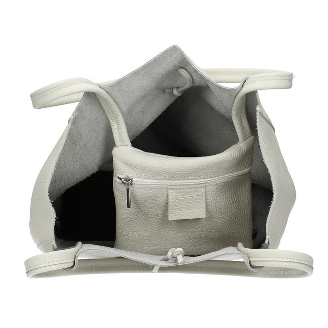 Béžová kožená kabelka bata, béžová, 964-1162 - 15