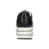 Čierne dámske tenisky na pruhovanej flatforme bata-light, čierna, 621-6656 - 15