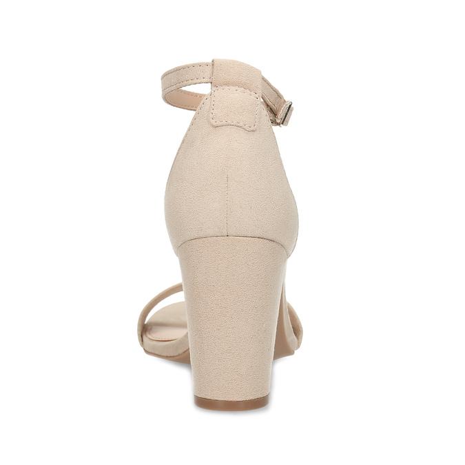 Béžové dámske sandále na stabilnom podpätku bata-red-label, béžová, 769-8641 - 15
