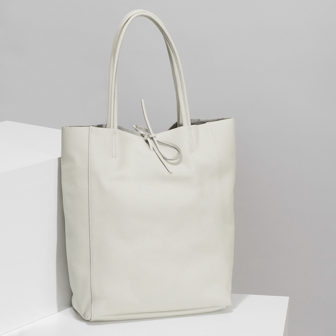 Béžová kožená kabelka bata, béžová, 964-1162 - 17