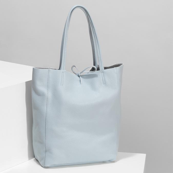 Svetlomodrá kožená kabelka bata, modrá, 964-9162 - 17