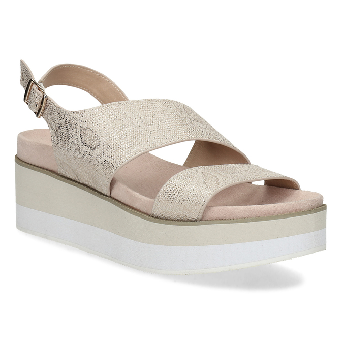8389f0aeca Bata Béžové dámske sandále na platforme - Klinový podpätok