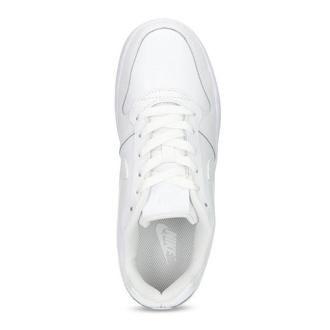 Biele pánske ležérne tenisky s prešitím nike, biela, 801-1124 - 17