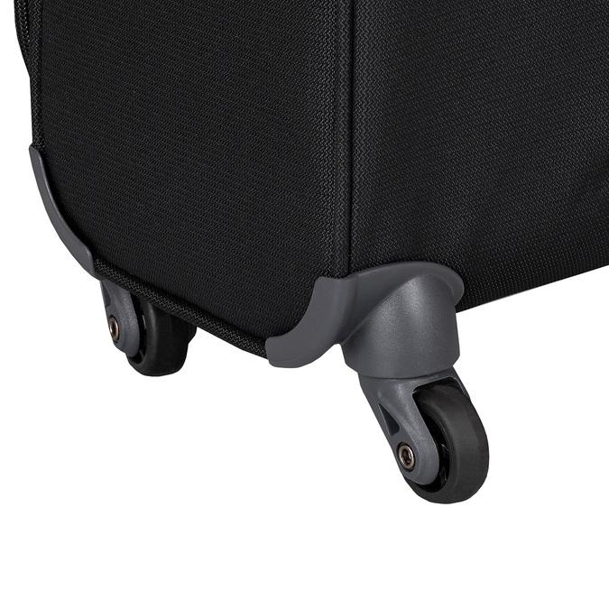 Čierny kvalitný textilný kufor samsonite, čierna, 960-6037 - 15