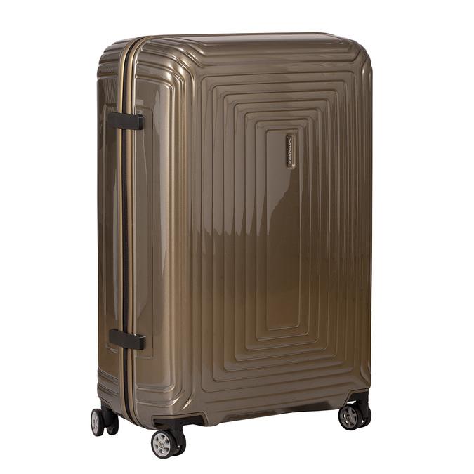 Cestovný zlatý škrupinový kufor samsonite, zlatá, 960-8023 - 13