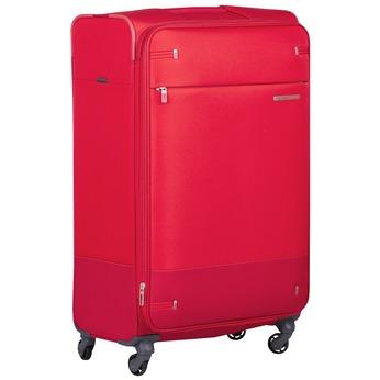 Veľký červený textilný kufor samsonite, červená, 960-5041 - 13