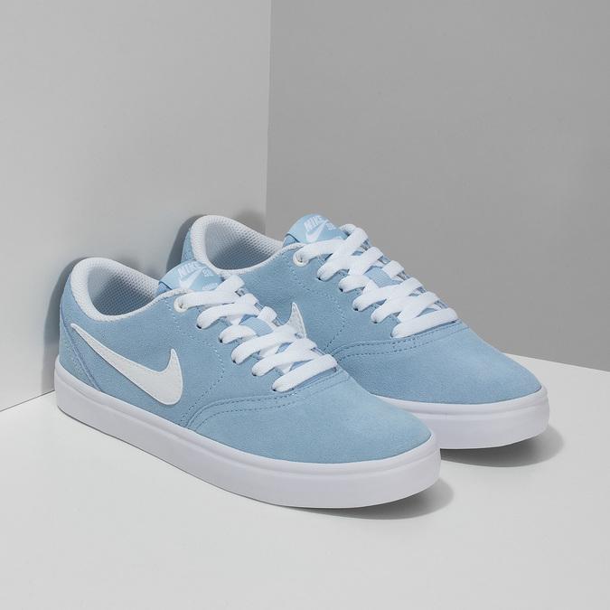 Svetlomodré kožené tenisky nike, modrá, 503-9102 - 26