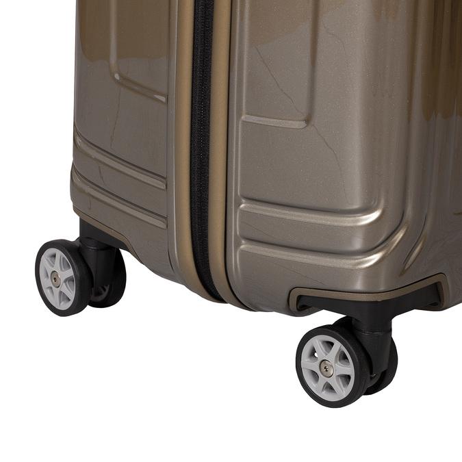 Cestovný zlatý škrupinový kufor samsonite, zlatá, 960-8023 - 15